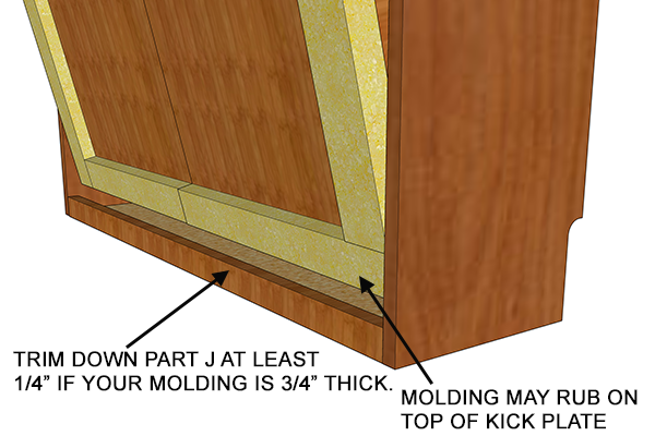 kick plate adjustment on murphy bed