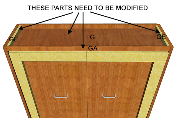 cabinet top modifications