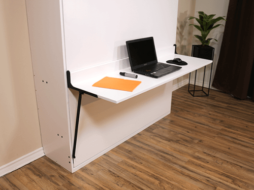 vertical murphy bed with desk