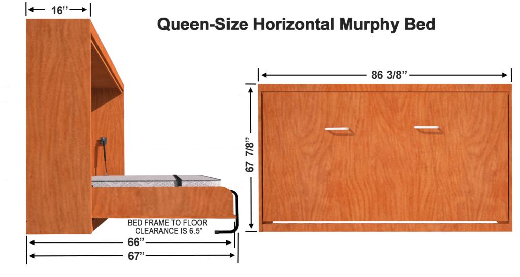 Vertical Murphy Bed Kit, Twin Size Murphy Bed Hardware Kit