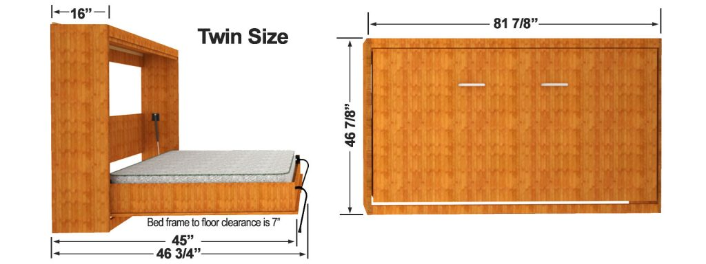 horizontal queen murphy bed kit 2
