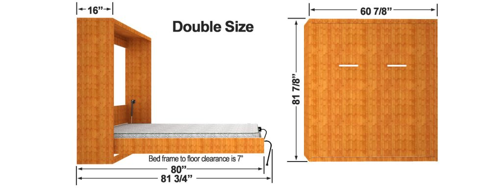 double murphy bed kit 2